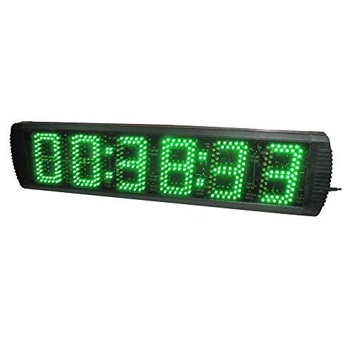 Yingm Cuenta de Reloj LED 5 Pulgadas LED Intervalo de Entrenamiento Temporizador de Cuenta Regresiva del cronómetro programable for Carrera de temporización Escuelas de Clubes de Salud