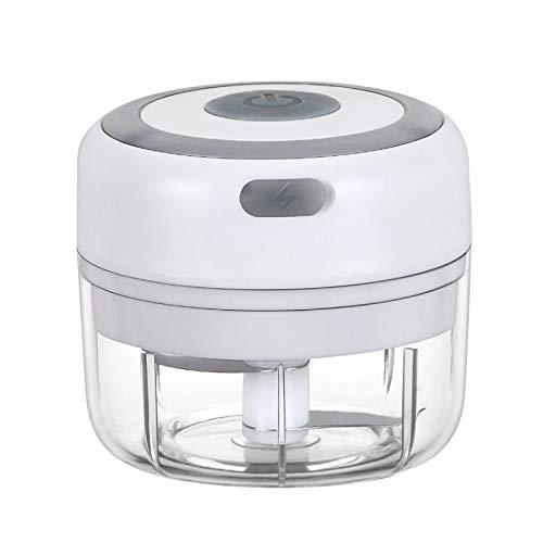 Galapare Prensa eléctrica de ajos, Mini Molinillo de ajo Picador de ajo eléctrico inalámbrico licuadora de Frutas y Verduras Utensilios de Cocina 100ML USB Cortador de ajos, trituradora de ajos