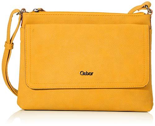 Gabor Umhängetasche Damen Dina, (Gelb), 25.5x18.5x4 cm, Gabor Handtasche Damen
