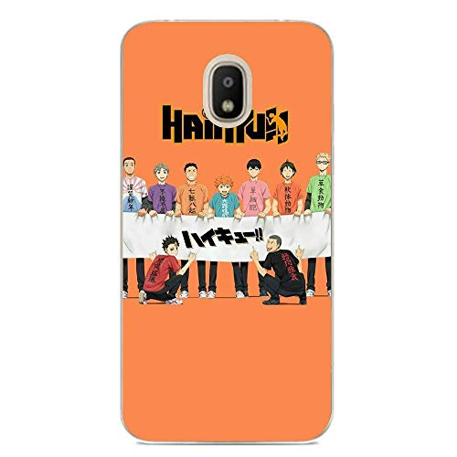 Transparent Anti-Scratch Anti-Yellowing TPU Cover Soft Case for Samsung Galaxy J7 2018-Anime-Haikyuu Love Volleyball 7