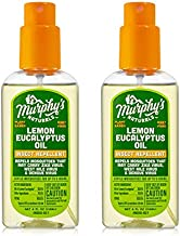 Murphy's Naturals Lemon Eucalyptus Oil Insect Repellent | Plant Based with All-Natural Ingredients | Mosquito Repellent | 4oz Pump Spray | 2 Pack