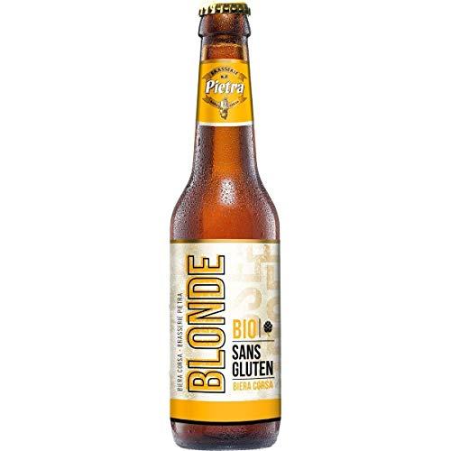 Les5CAVES - Pack Pietra Bière Corse blonde bio sans gluten 5,5% bouteille 12x33cl - Corse