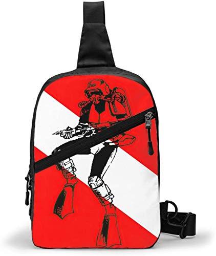 Dive Flag Sling Bag,Crossbody Shoulder Chest Outdoor Hiking Travel Personal Pocket Bag for Women Men Water Resistance