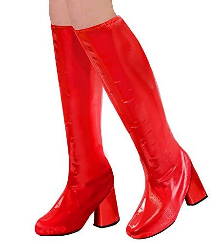 WIDMANN 65782Botas überzieher para adultos, mujer, color rojo