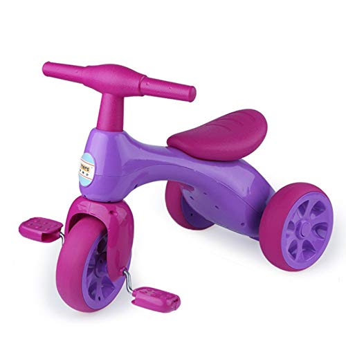 Kptoaz Toddler Balance Bicycle, 2 in 1 Children Tricycles with Storage Box 3 Wheel Baby Balance Bike Kids Balance Trike Perfect for Boy Girl Gift Toy Indoor Outdoor Use (one Size, Purple)