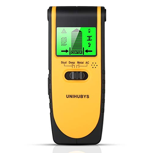 Stud Finder Wall Scanner-Digital LCD Display Multi Function Stud Finder for Detecting Studs//Wood/Metal/Wires,4 Scanning Modes, Visual & Sound Warning, Automatic Calibration for Home & Construction