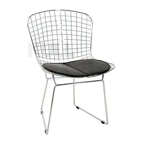 KullDesign.com Silla Wire Style Cromada. Silla para Oficina o salón Inspirada en el diseño de Harry Bertoia.