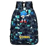 Sonic The Hedgehog Casual multipla Zaino Student colori sacchetto di scuola del fumetto di stampa Daypack for ragazzo e ragazza Zaino per Bambini e Adolescenti (Color : A10, Size : 29 X 14 X 45cm)