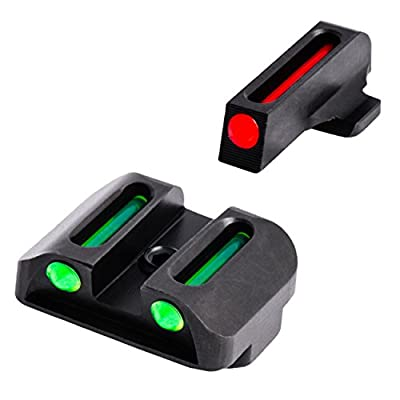 """TRUGLO Fiber-Optic Front and Rear Handgun Sights for Springfield XD, XDM (excluding 5.25"""" Comp Series) and XDS"""