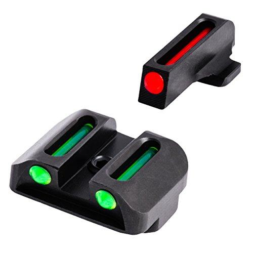 TRUGLO TG131X Fiber Optic Set, Handgun, Springfield XD, Black, One Size