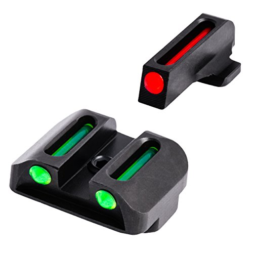 TRUGLO Fiber-Optic Front and Rear Handgun Sights for Springfield XD, XDM (excluding 5.25' Comp...
