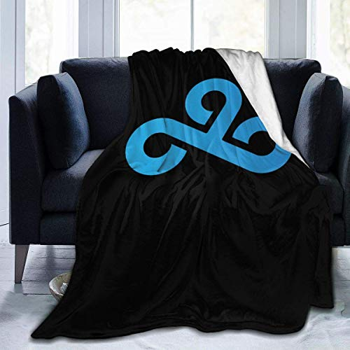 liangchunmei Cloud9 Logo Throw Blanket Digital Printed Ultra-Soft Micro Fleece Blanket Plush Soft for Bed Sofa Chair Couch Camp, 50'x40'