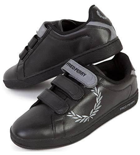 Fred Perry Schuhe/Sneaker B3034 (44 EU, Black/Steel-811)