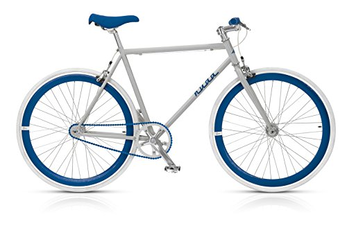 MBM Nuda Bicicleta de piñón fijo, Hombre, Nuda, Grigio/Blu, 53 cm