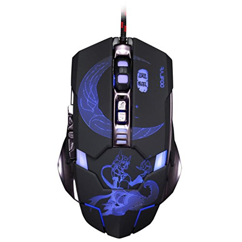 Mouse ,ZYooh Adjustable 3500DPI 7D Optical Custom Macros USB Wired Gaming Mouse Mice Black