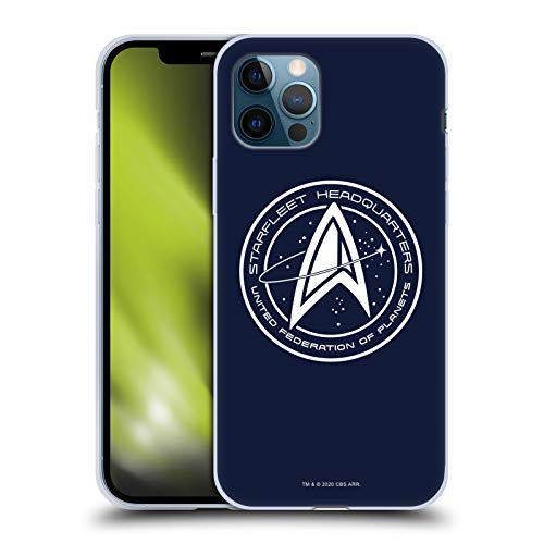 Head Case Designs Officially Licensed Star Trek: Picard Starfleet Headquarters Badges Soft Gel Case Compatible with Apple iPhone 12 / iPhone 12 Pro