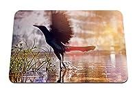 26cmx21cm マウスパッド (水黒い鳥翼ドロップ水しぶき) パターンカスタムの マウスパッド