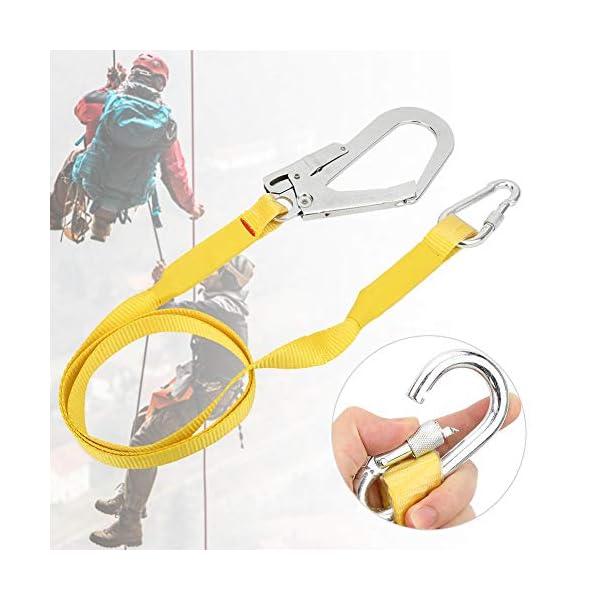 Cinturón de seguridad para trabajo aéreo al aire libre, montañismo Escalada Techados Techadores Protección del cinturón de seguridad Arnés de alta resistencia Hebilla de bloqueo Lany