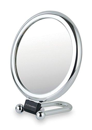 3 Claveles – Miroir grossissant avec Base Pliable, 15 cm – 1 x, 7 x
