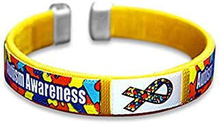 Child Autism Awareness Bangle Bracelet in a Bag