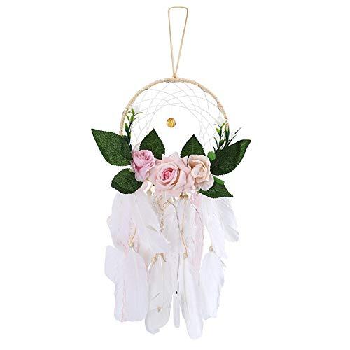 Muur hangende veer Dreamcatcher Ideale hanger cadeau met nachtlampje voor thuis slaapkamer decoratie