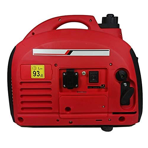 Generador de corriente INVERTER portátil 1,4KW Gasolina Capacidad Nom. 1,8KVA Max. 2,0KVA Bajo consumo y nivel de ruido Tipo maleta SVE-2000HD