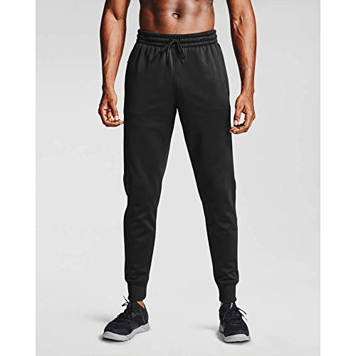 Under Armour Pantaloni Armour Fleece Jogger Pantaloni, Uomo, Black / / Black (001), SM