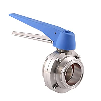 """BOKYWOX 2"""" Sanitary Stainless Steel 304 Tri Clamp Butterfly Valve with Trigger Handle and Silicon Seal by BOKYWOX"""