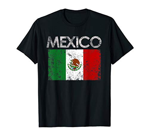Vintage Mexico Mexican Flag Pride Gift T-Shirt