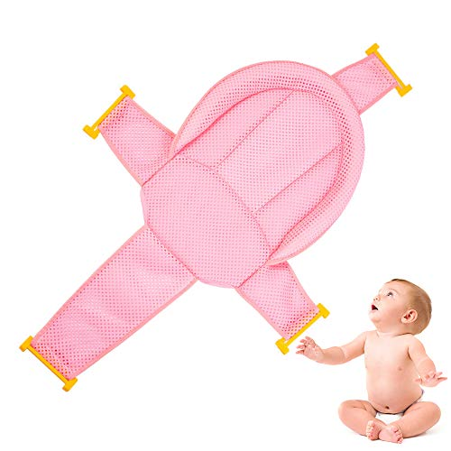 Baby Badewannensitz, Walenbily Badewanneneinsatz Sitz kreuzförmig Babybadewanne Badezubehör für Neugeborenen oder Kleinkind