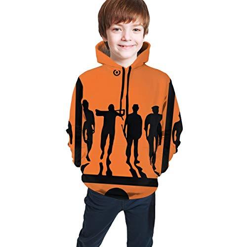 Children's A Clockwork Orange Frame Movie Silhouette Hoodies Unisex Pullover Hooded Cool Sweatshirts