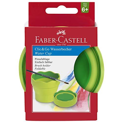 Faber-Castell 181570 - Wasserbecher Clic und Go, Lernmaterialien, hellgrün