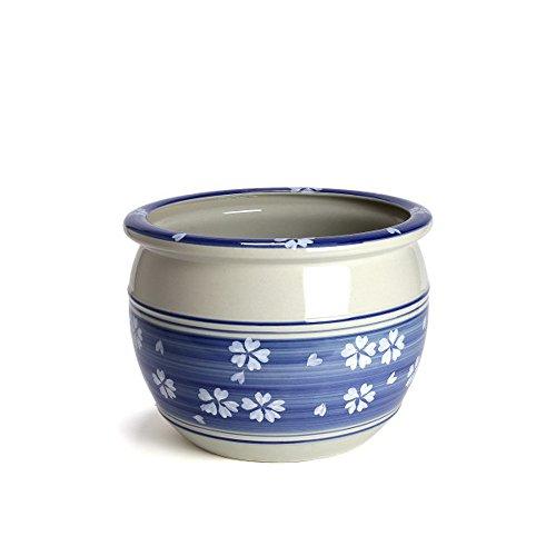 鉢 KANEYOSHI 陶器 植木鉢 睡蓮鉢 めだか鉢 ブルー LL