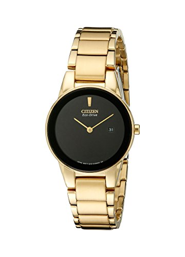 Citizen Eco-Drive Women's GA1052-55E Axiom Analog Display Gold Watch