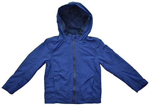Pocopiano Nylonjacke Regenjacke Windjacke Jungen Kapuze Windbreaker Blau (116)