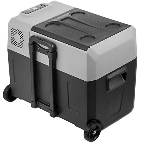 GIOEVO Mini Frigorifero Portatile per Auto 40L con Schermo LCD Digitale -20 a 10 ° C, Congelatore per Frigorifero Portatile 220V (SH-XC40)
