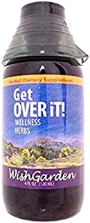 WishGarden Herbs - Get Over It, Organic Herbal Cold & Flu Remedy, Supports Your Body's Recovery (4 oz Jigger)
