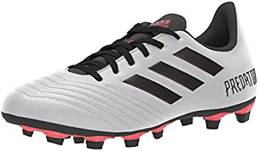 adidas Predator 19.4 Firm Ground Soccer Shoe (mens) Silver Metallic/Black/Hi-res Red 6.5