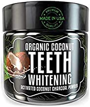 Teeth Whitening Charcoal Powder - Odissey Life - Coconut Oil - Organic Coconut Activated Charcoal Powder - Sparkling White Teeth - Nano Technology Teeth Whitening - MADE IN USA (One Jar Mint Flavor)