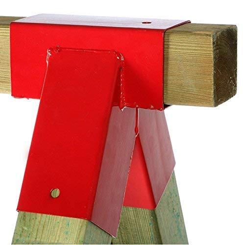 Gartenpirat 1 St. Schaukelverbinder rot Vierkantholz 9x9 cm Schaukel selber Bauen