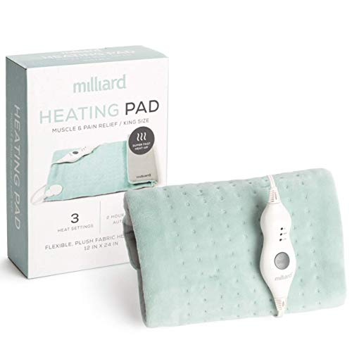 Milliard Electric Heating Pad – Heat Pad for Back Pain...