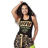 Zumba Black Graphic Print Fitness Dance Workout Racerback Tank Tops For Women Tanktops, Z Now, Medium Womens