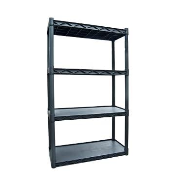 Plano Molding 904 Four-Shelf Utility Shelving, Dark Gray
