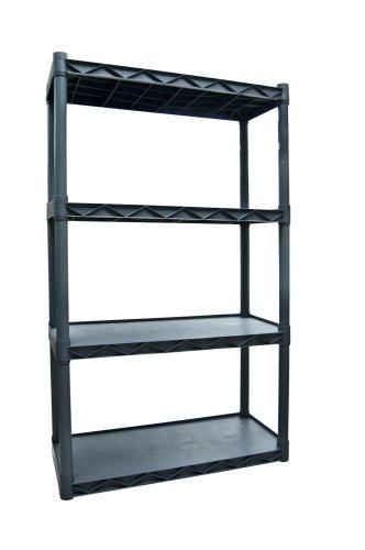Plano Molding 904 Four-Shelf Utility Shelving Dark Gray