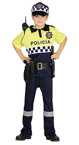 Guirca- Disfraz policía local, Talla 7-9 años (87509.0) ,