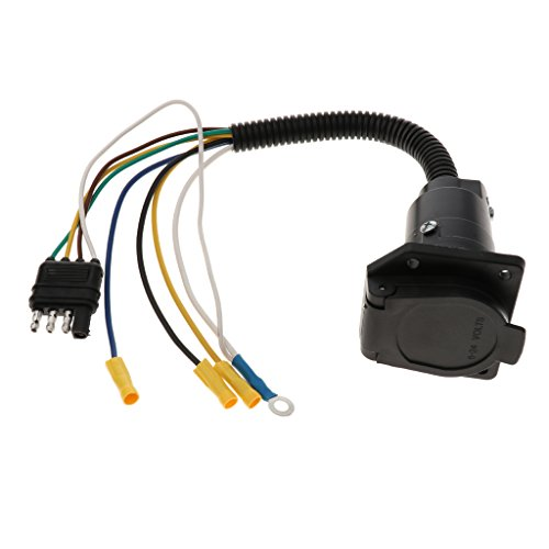 7 Polige Runde Buchse Anhänger Licht Stecker 4-Draht Weiblich Anhänger Adapter