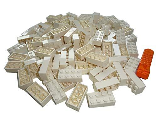 LEGO Classic. 100 Stück 2x4 Steine mit Steinetrenner (Weiss)