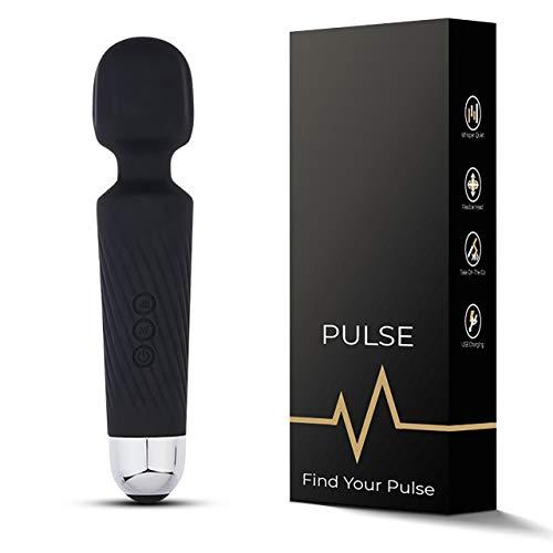 Pulse - Handheld Personal Body Massager - Waterproof Massage Wand - Sterke vibratie - 20 verschillende patronen - 8 verschillende snelheden - Stil en discreet