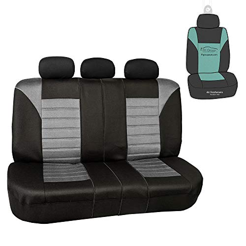 FH Group FB068013 Premium 3D Air Mesh Seat Covers (Gray) Rear Set - Universal Fit for Cars, Trucks, SUVs