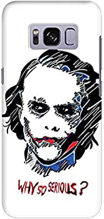 Stylizedd Samsung Galaxy S8 Slim Snap Case Cover Matte Finish - Why So Serious - Multi Color